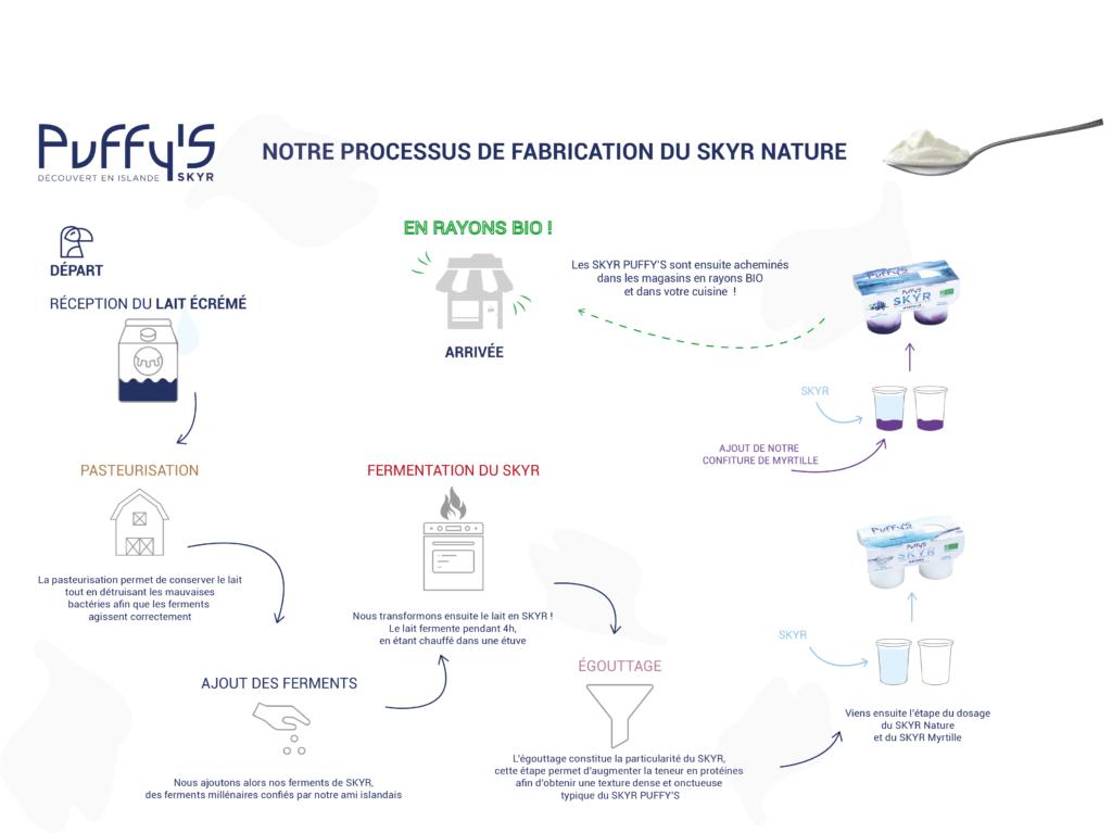 Infographie expliquant la fabrication du SKYR