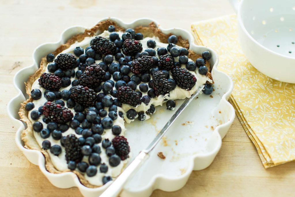 Tarte au yaourt islandais SKYR et fruits rouges