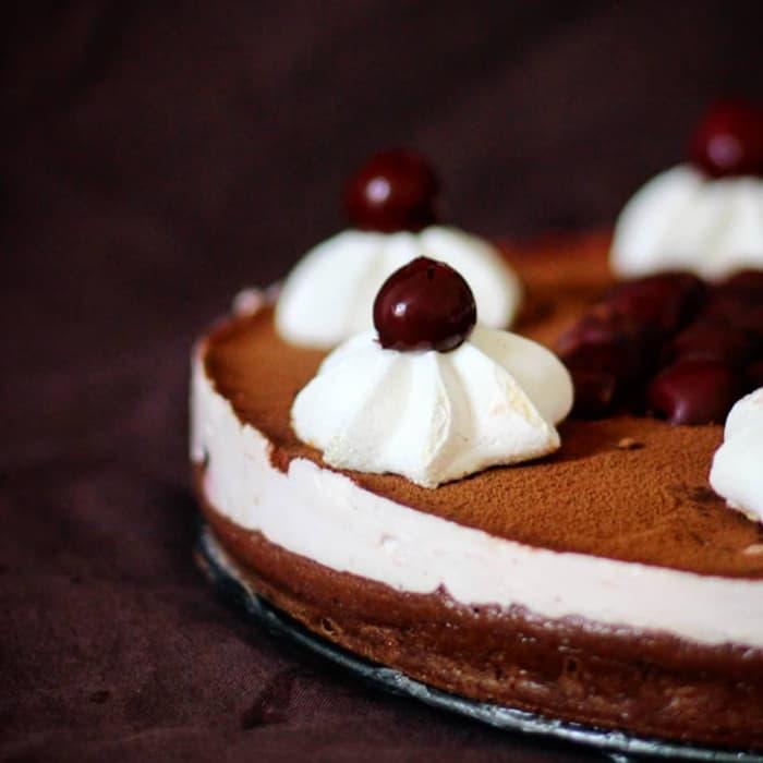 foret noire façon cheesecake avec du skyr