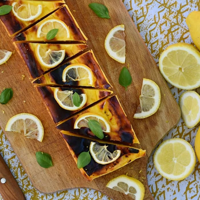 gateau au skyr citron basilic