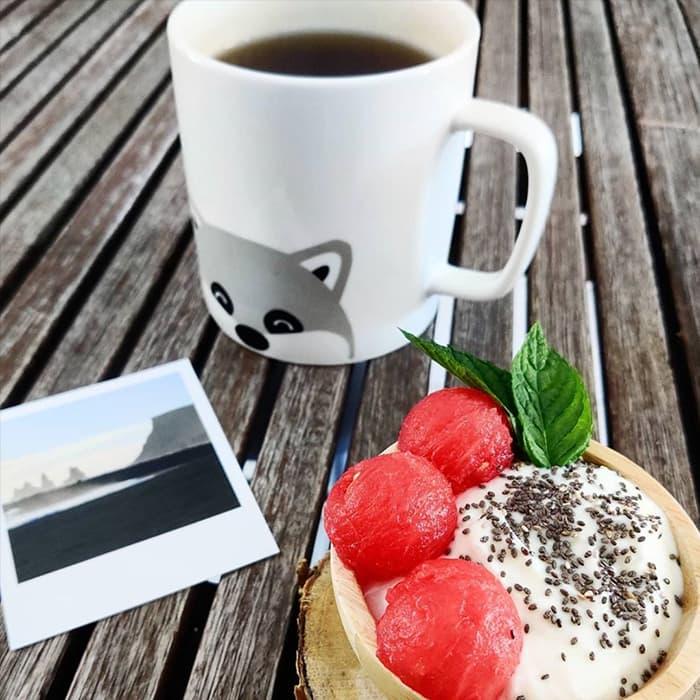 petit dejeuner skyr avec photo d'Isalnde