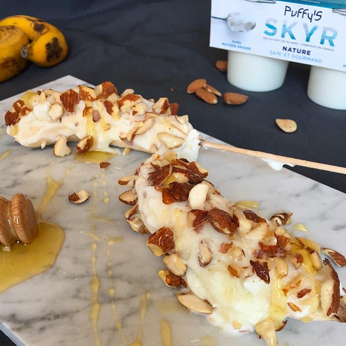 Glace bananes skyr