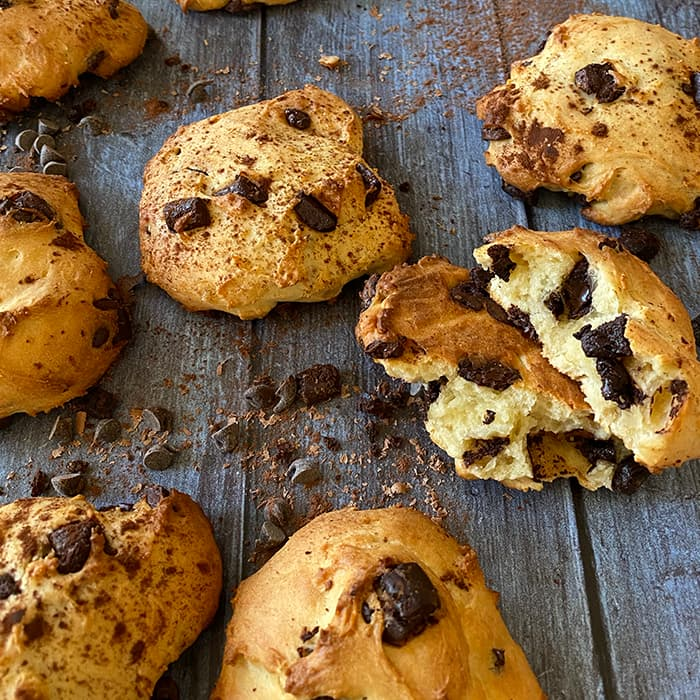 cookies moelleux au SKYR nature Puffy's et chocolat
