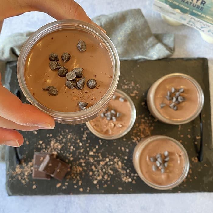 crème SKYR Puffy's chocolat dans ramequins