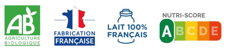 banniere bio francais lait francais nutriscore A