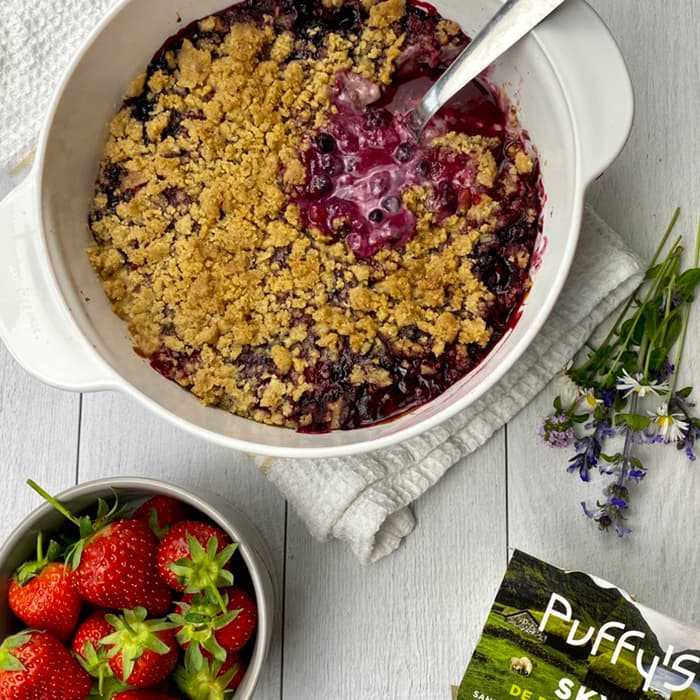clafoutis crumble skyr Puffy's fruits rouges