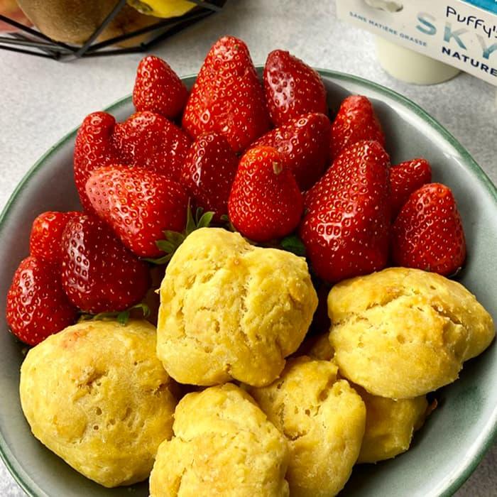 petits biscuits au skyr Puffy's