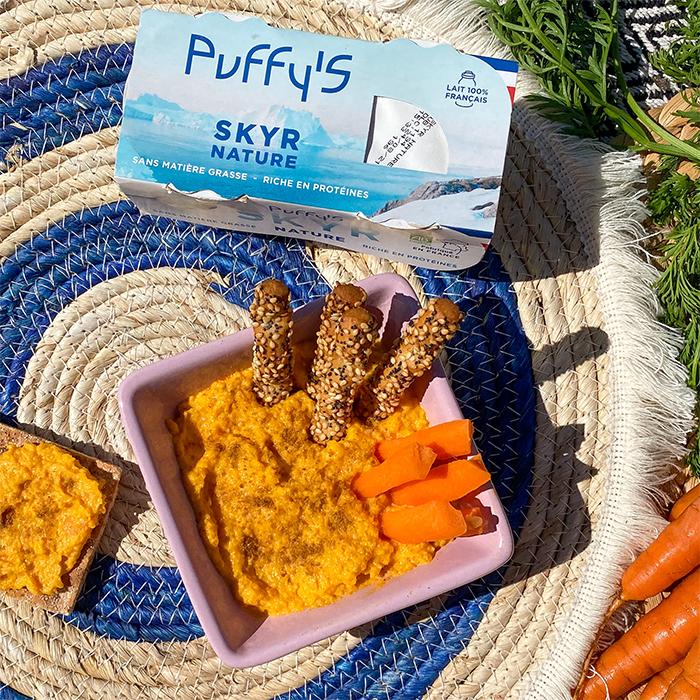 DIP de carottes à la marocaine au Skyr et épices