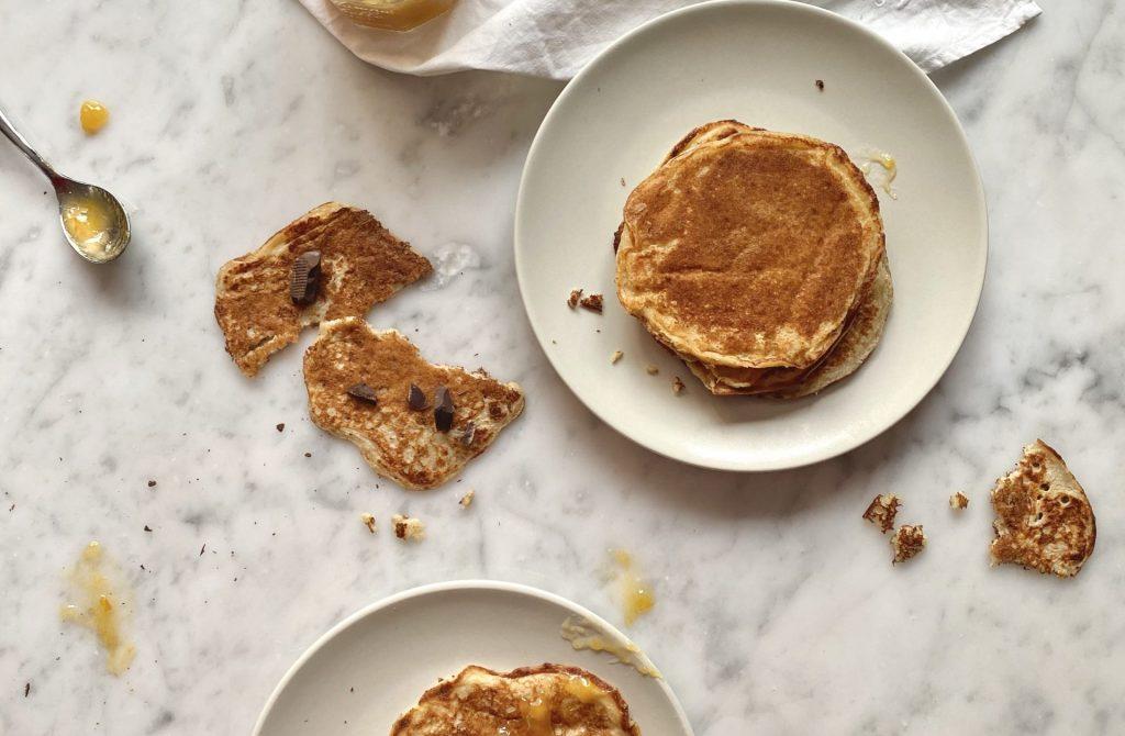 Recette de pancakes au SKYR Puffy's