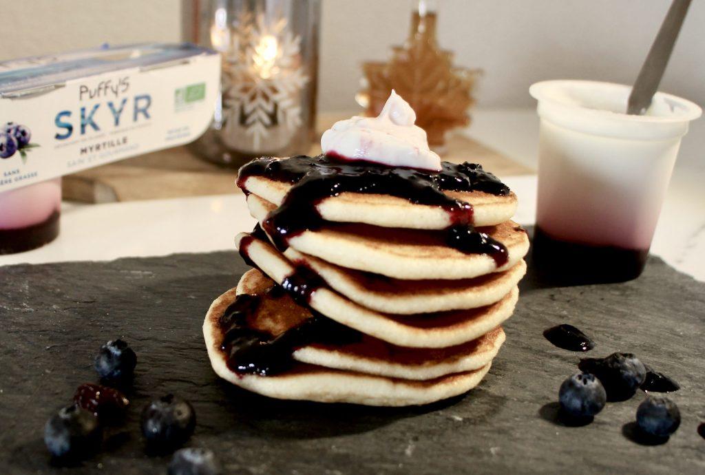 photo de pancakes au skyr yaourt